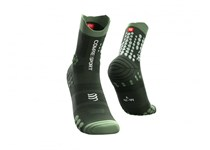 COMPRESSPORT PRORACING SOCKS V3.0 TRAIL STEALTH GREEN